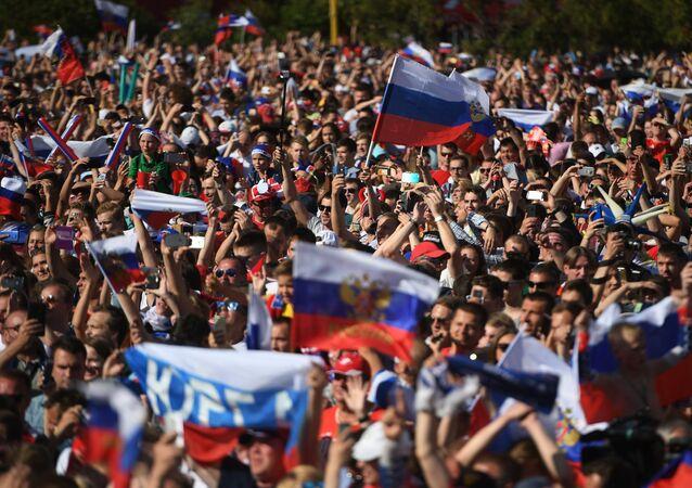 Hinchas rusos en el Mundial 2018