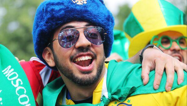 Hincha brasileño en Rusia - Sputnik Mundo