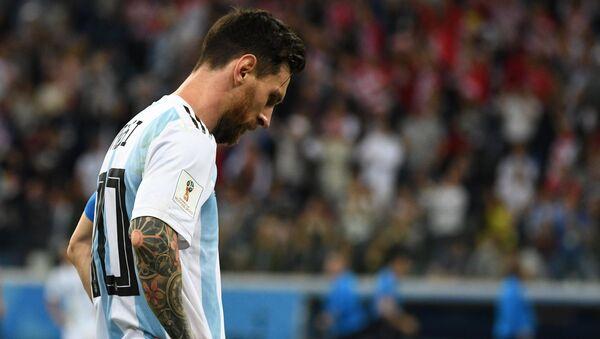 Lionel Messi, delantero de la selección argentina, una derrota por goleada ante Croacia - Sputnik Mundo