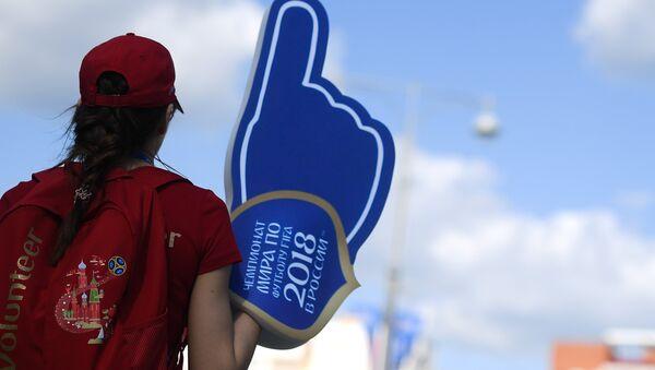 Un voluntario del Mundial 2018 de Rusia (imagen referencial) - Sputnik Mundo