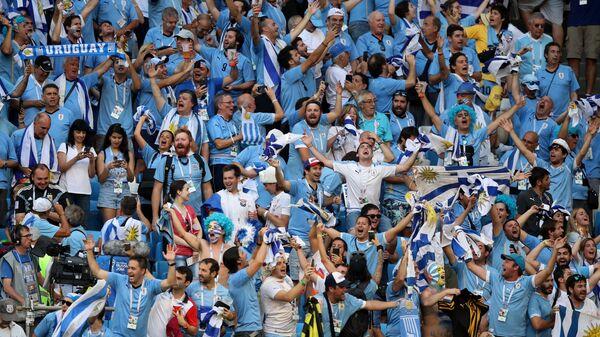Hinchas uruguayos durante un partido del Mundial de Rusia 2018 - Sputnik Mundo