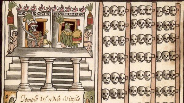 Tzompantli azteca. - Sputnik Mundo