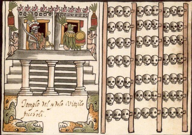 Tzompantli azteca.