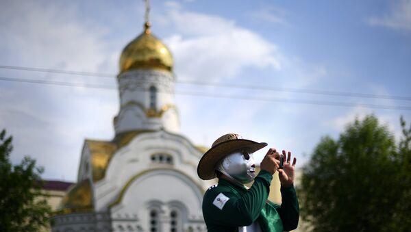 Un hicnha mexicano en Ekaterimburgo - Sputnik Mundo