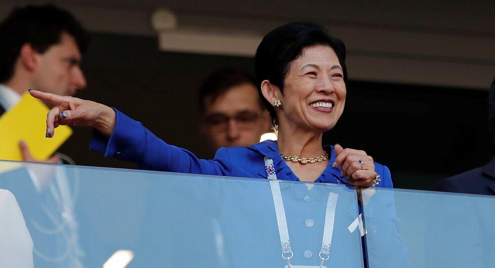 Hisako Takamado, princesa japonesa durante su visita a Rusia