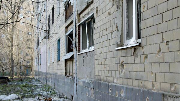 Las consecuencias del tiroteo en Donetsk (archivo) - Sputnik Mundo