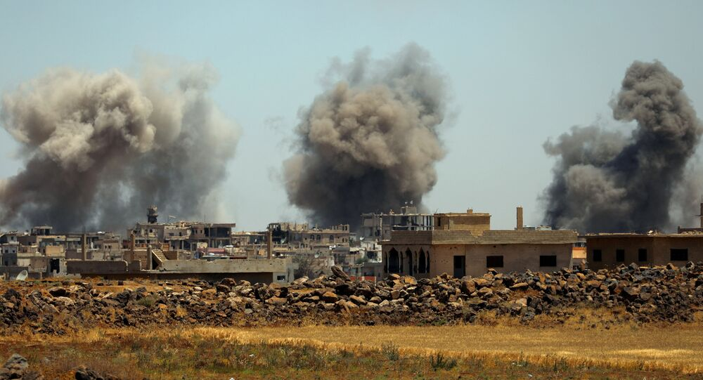 Situación en Deraa, Siria (archivo)