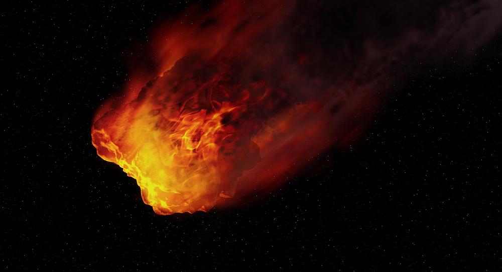 Imagen de fantasía de un asteroide