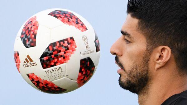 Luis Suárez, delantero de la selección de Uruguay - Sputnik Mundo