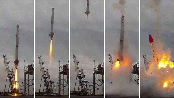 El fallo del cohete espacial MOMO-2 - Sputnik Mundo
