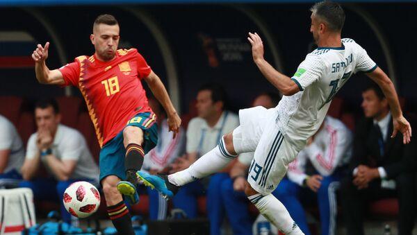 El partido entre España y Rusia en Luzhniki - Sputnik Mundo