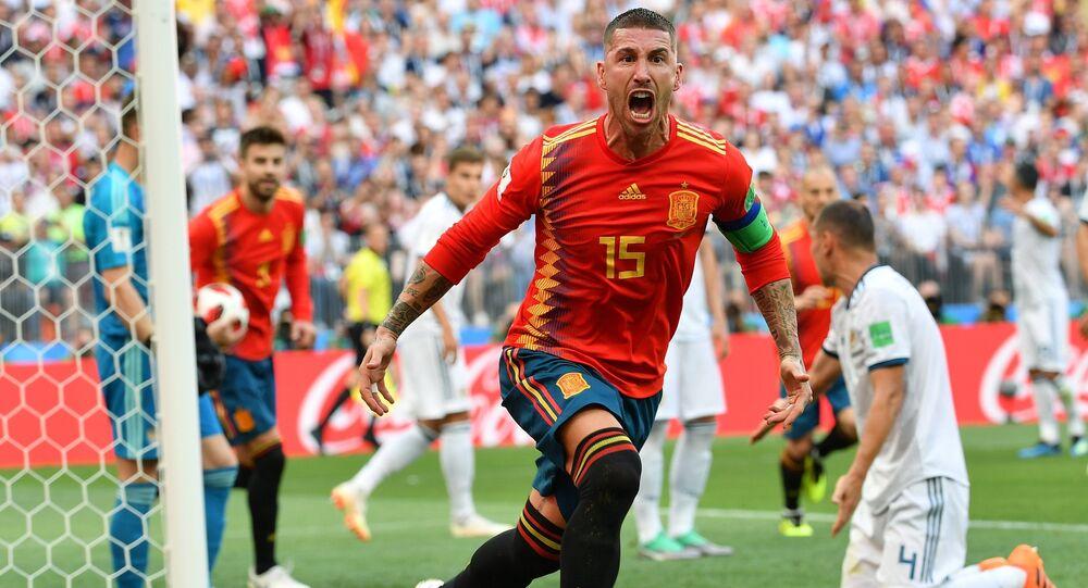Sergio Ramos, España, tras su gol a Rusia