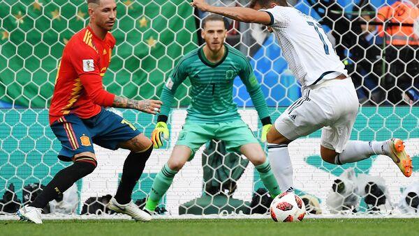 El partido entre Rusia y España - Sputnik Mundo