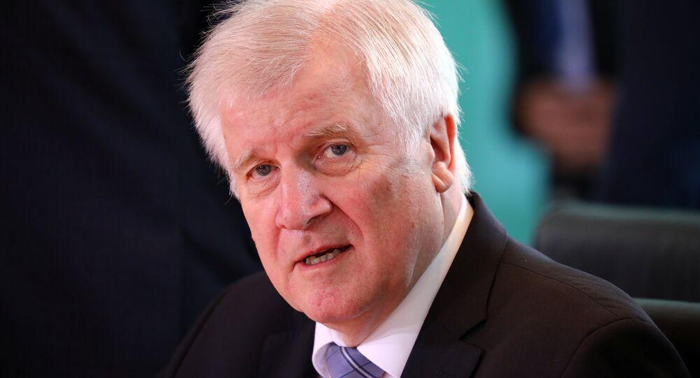 Horst Seehofer, ministro del Interior y líder de la Unión Social Cristiana de Baviera