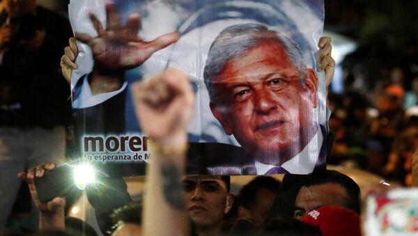 Partidarios de Andrés Manuel López Obrador - Sputnik Mundo