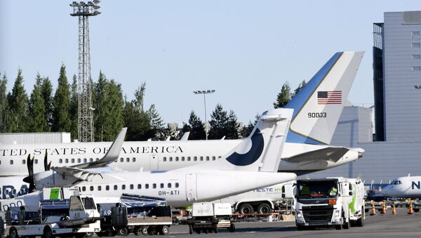 Aviones de la Administración de EEUU en el aeropuerto de Helsinki (archivo) - Sputnik Mundo