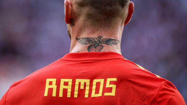 Sergio Ramos en el partido de los octavos del final entre las selecciones nacionales de España y Rusia - Sputnik Mundo