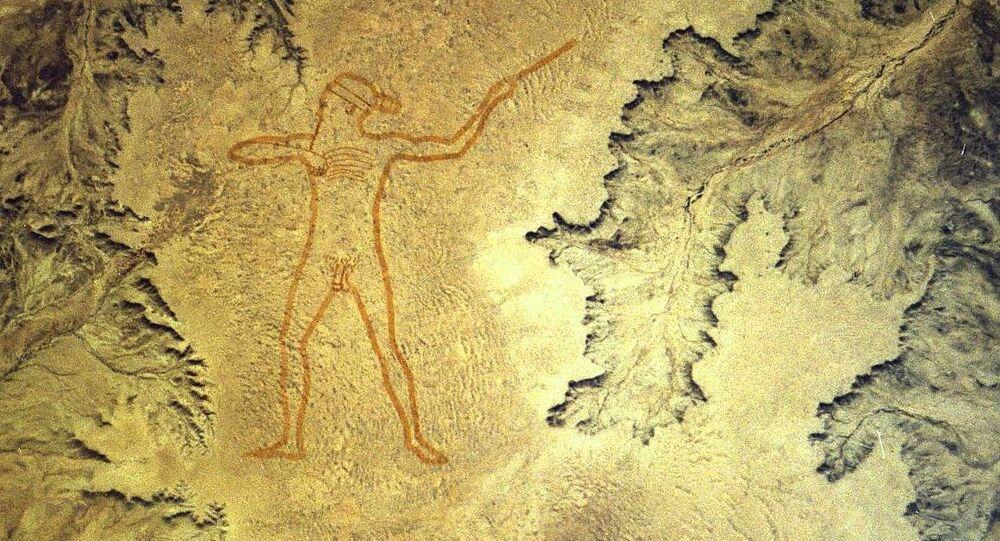 El Hombre de Marree, geoglifo en Australia