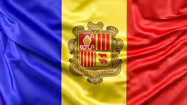 La bandera de Andorra - Sputnik Mundo