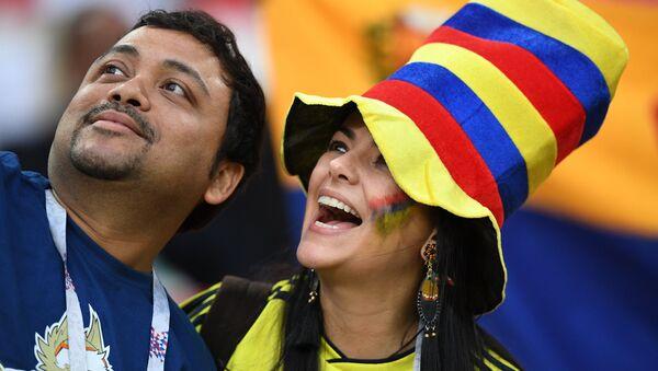 Hinchas colombianos - Sputnik Mundo
