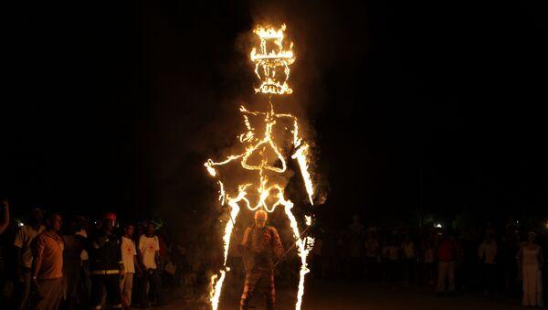 Quema del diablo, Festival del Caribe, Cuba - Sputnik Mundo
