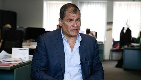 Rafael Correa, expresdente de Ecuador - Sputnik Mundo