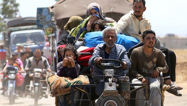 Desplazados en Siria - Sputnik Mundo