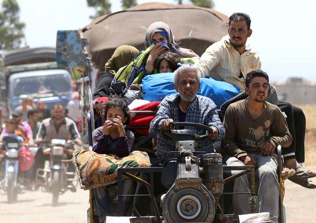 Desplazados en Siria