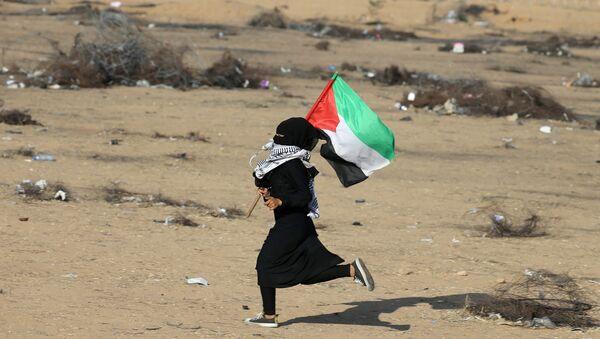 Protestas en Gaza - Sputnik Mundo