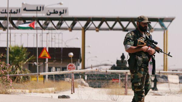 El paso de Nasib en la frontera entre Siria y Jordania - Sputnik Mundo