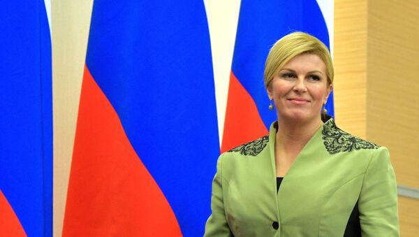 La presidenta de Croacia, Kolinda Grabar-Kitarovic - Sputnik Mundo