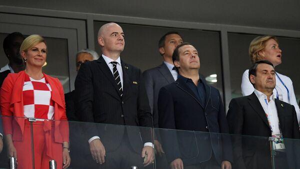 Los distinguidos invitados del partido entre Rusia y Croacia en Sochi - Sputnik Mundo