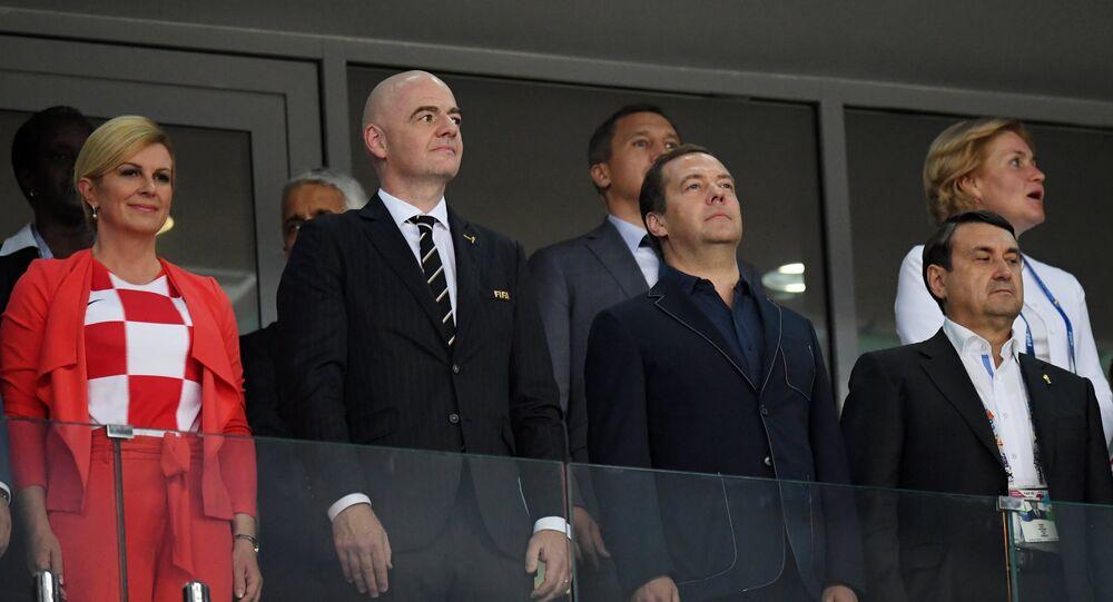 Los distinguidos invitados del partido entre Rusia y Croacia en Sochi