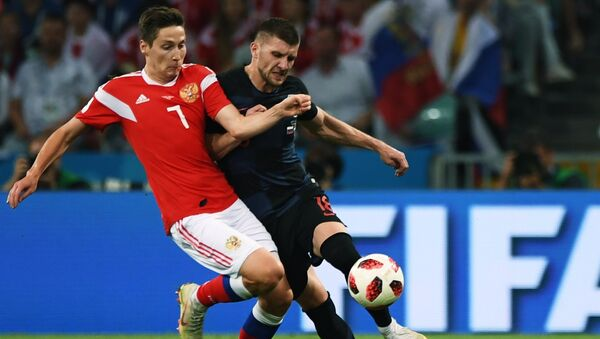 Daler Kuzyaev (Rusia), Ante Rebić (Croacia) - Sputnik Mundo