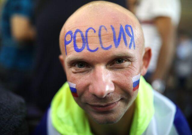 Un hincha de Rusia