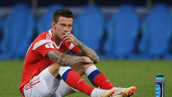 El jugador ruso Fiodor Smolov, quien no marcó su penal, después del partido contra Croacia - Sputnik Mundo