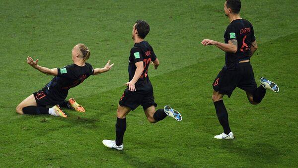 Jugadores de la selección de Croacia - Sputnik Mundo