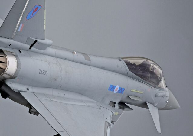 El europeo Eurofighter Typhoon, el caza mas moderno creado con participacion britanica (imagen referencial)
