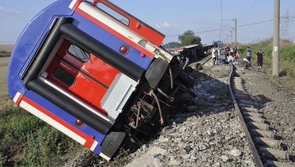 Accidente ferroviario en noroeste de Turquía - Sputnik Mundo
