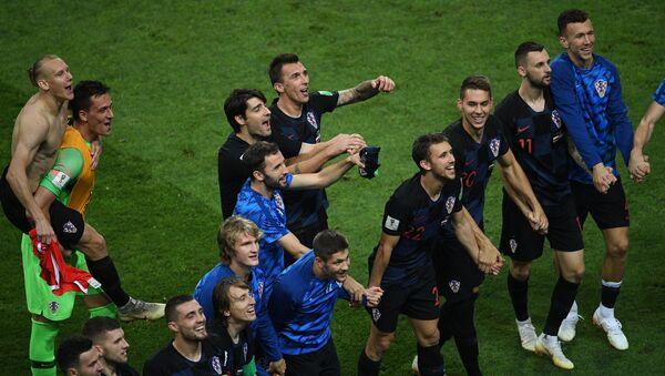 Los jugadores de la selección de Croacia - Sputnik Mundo