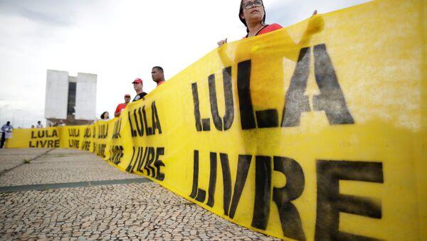 Manifestación a favor de la liberación del expresidente brasileño Luiz Inácio Lula da Silva - Sputnik Mundo