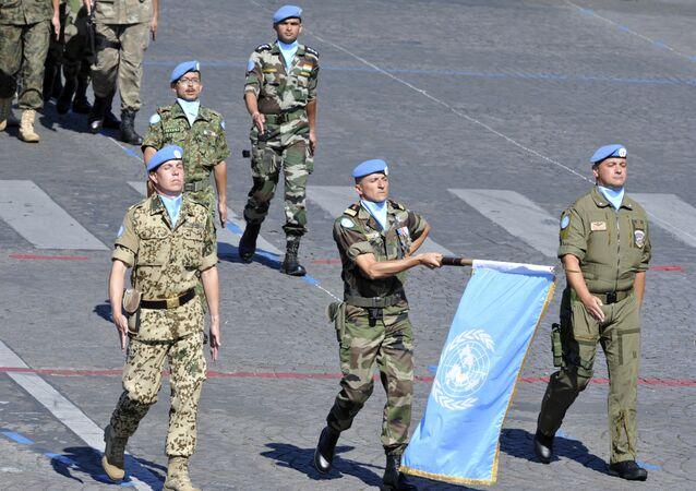 Soldados de paz de la ONU (archivo)