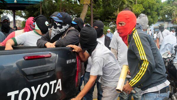 Violencia en Diriamba, Nicaragua - Sputnik Mundo