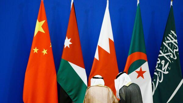 Las banderas de China y de países árabes - Sputnik Mundo