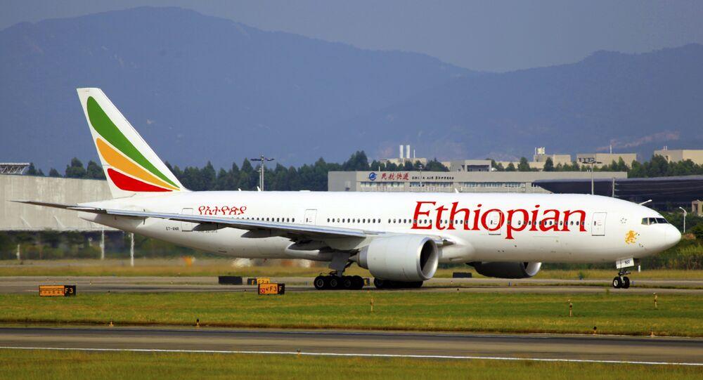 Un avión de Ethiopian Airlines