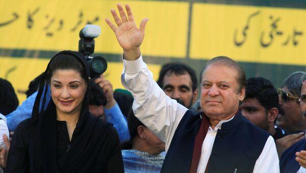 Ex primer ministro de Pakistán, Nawaz Sharif, y su hija Maryam - Sputnik Mundo
