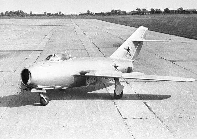 El caza de frente MiG-15BSP