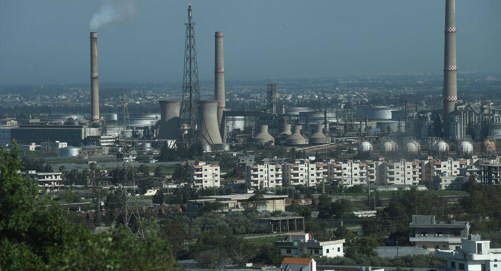 Una central eléctrica en Siria