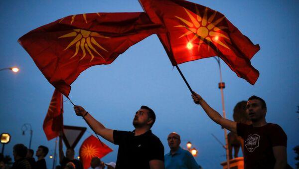 Las banderas de Macedonia - Sputnik Mundo