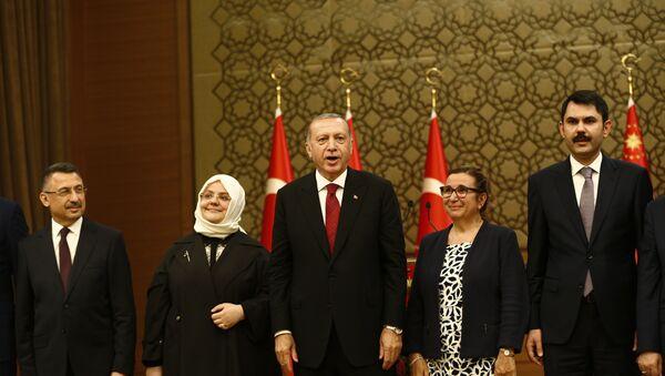 El presidente de Turquía, Recep Tayyip Erdogan, presenta a los miembros de su Gobierno, Ankara, Turquía, 9 de julio de 2018 - Sputnik Mundo
